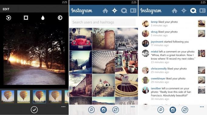 Instagram on Windows Phone 8