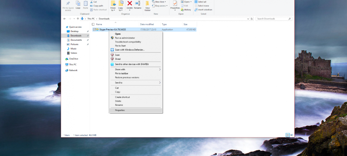 Compatibility Mode in Windows 8