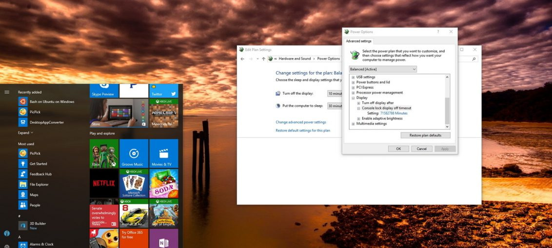 How to Enable Console Lock Display off Timeout in Windows 8?