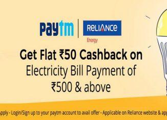 Paytm Electricity Bill Offer